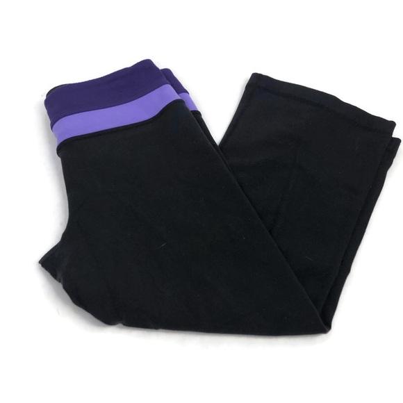 Lululemon Reversible Groove Crop Black/Purple